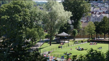 Llangollen's Riverside Park