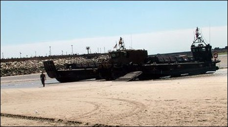 Landing craft in Jersey for Liberation 60