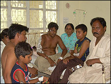 The Hameed family in hospital
