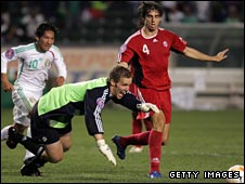 Josh Wagenaar in action for Canada