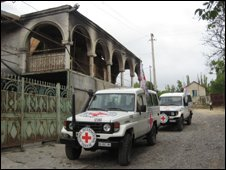 ICRC visits largely destroyed village in Georgia