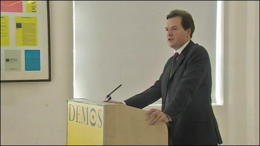 George Osborne tells Demos the Conservatives are now the most progressive force in British politics