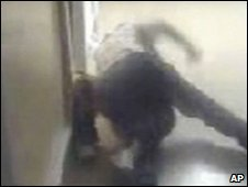 Mobile video image of staged fight (Handout: City of Corpus Christi)