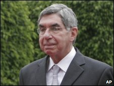 President Oscar Arias in July 2009