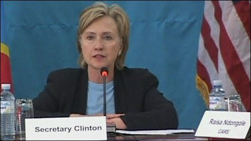 The American Secretary of State, Hillary Clinton