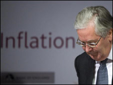 Mervyn King presents the Bank's Inflation Report