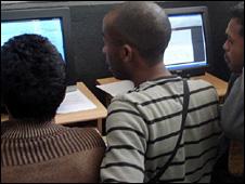 An internet cafe in Antananarivo