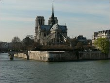 The Seine and Notre Dame Cathedral from the left bank, Paris, France, 2009 file pic. Pollution of the Seine hit salmon numbers after World War I.