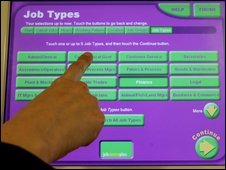 Job Centre search machine