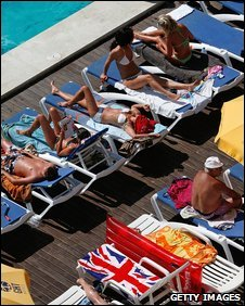British holidaymakers in Spain