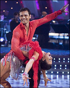 Mark Ramprakash and his dance partner Karen Harding