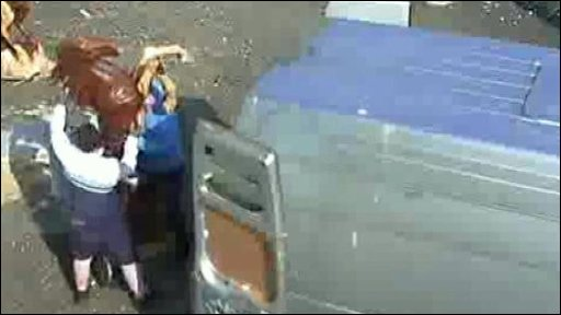 CCTV footage of the theft