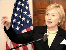 Hillary Clinton in Abuja, 12 August 2009