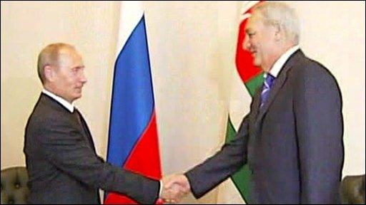 Putin and Bagapsh
