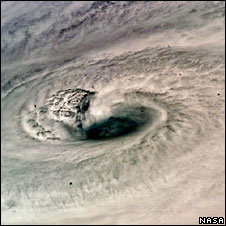 Hurricane Dean from space