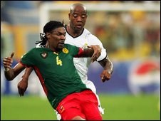 Rigobert Song in action for Cameroon