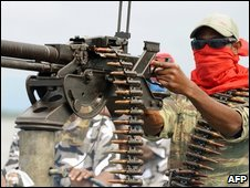 A fighter in the Niger Delta