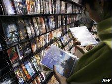 DVD shop in Beijing