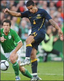 Tim Cahill (right) and Sean St Ledger