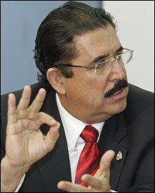 Ousted Honduran President Manuel Zelaya. File photo
