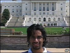 Sadequee poses in front of the US Capitol (Handout: US Attorney's office)