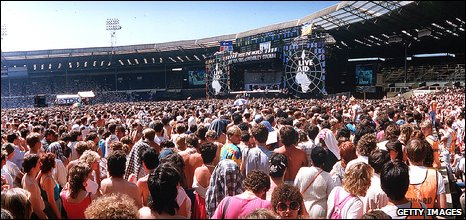 Live Aid at Wembley Stadium