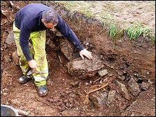 Peak District dig site