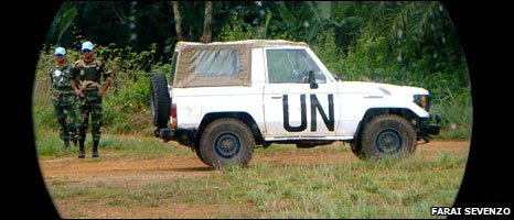 UN jeep in Liberia (Photo: Farai Sevenzo)