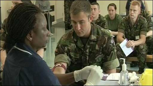 The army has hosted a special bone marrow donor session