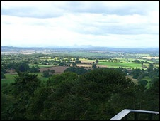View from the top of the Hawkstone column