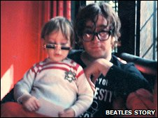 Julian and John Lennon