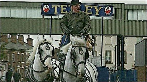 Tetley dray horses