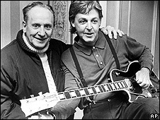 Les Paul with Paul McCartney