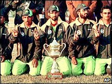 Pakistan's blind cricketers. File photo