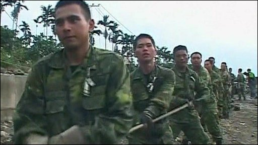 Army troops join rescue effort in Taiwan