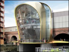 Artists impression of the new south entrance to Leeds train station