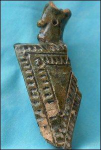Fragment of Scarborough ware knightjug