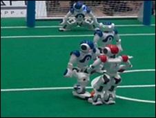 Robot footballers