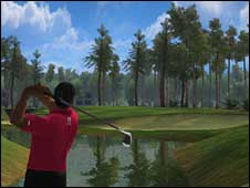 Screenshot from Tiger Woods PGA Tour Online, EA