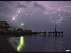 Lightning in North Carolina