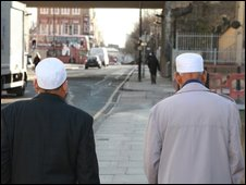 Elderly Muslim men in Whitechapel