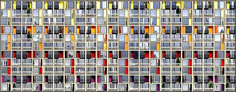 Urban Splash artist's impression of the new glazing at Park Hill (2009)