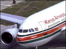 Undated photo of an Airbus 310 under the colours of Kenya Airlines