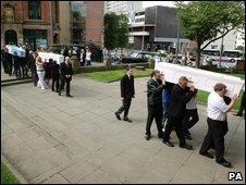 Funeral of Carly Swift, Jordan Swift and Jordan Hargreaves