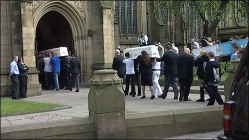 Funeral for Carly and Jordan Swift and their step-brother John Hargreaves