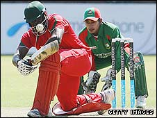 Hamilton Masakadza batting against Bangladesh