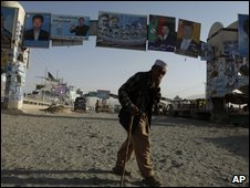 Election posters in Kabul