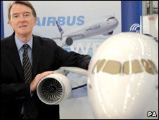 Lord Mandelson at Airbus