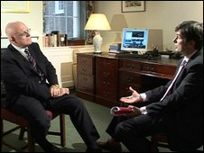 Robert Peston and Sir Michael Bishop