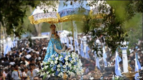 Catholic parade in Madhu